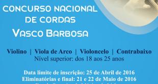 II Concurso Nacional de Cordas 'Vasco Barbosa'