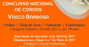 III Concurso Nacional de Cordas 'Vasco Barbosa'